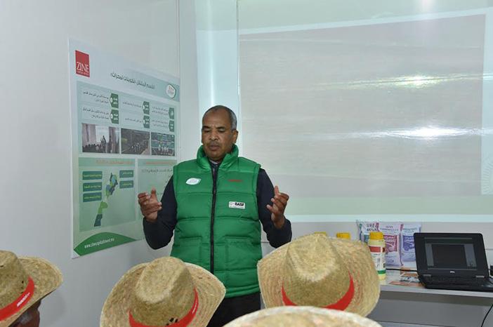 caravane Partenariat entre AMAROC, ZINE CEREALES et BASF